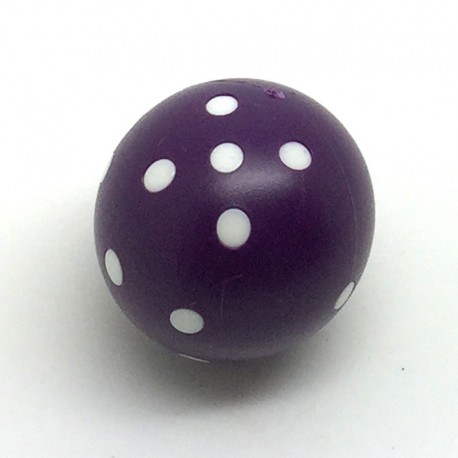 d6 rond violet à points blancs