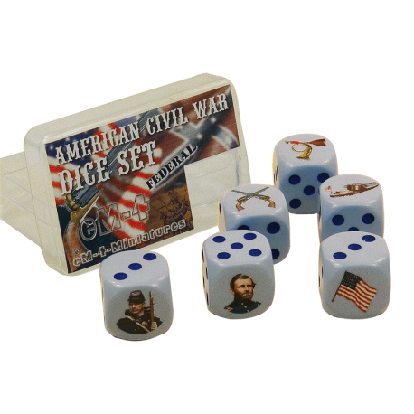 6d6 American Civil War Federal (L'Union)