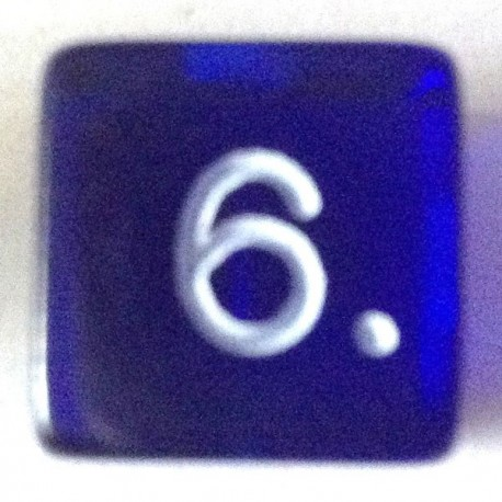 d6 gemme bleu