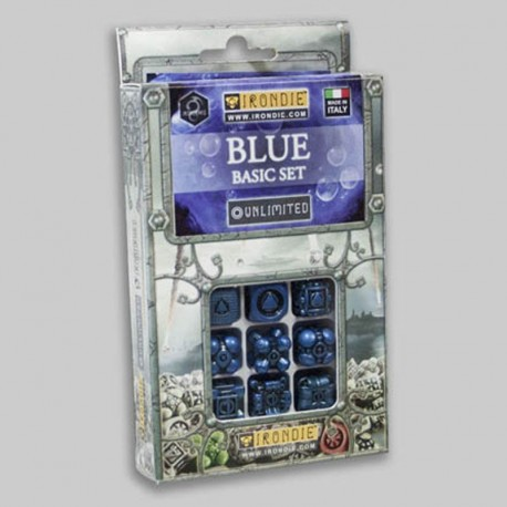 Irondie Basic Unlimited Set - 9d6 Bleus