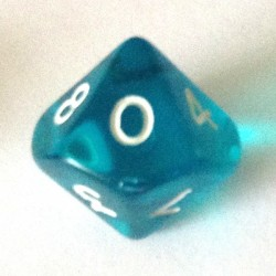 d10 gemme aquablue