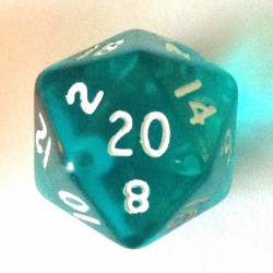 d20 gemme aquablue