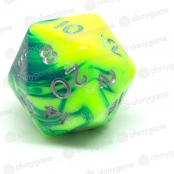 d20 toxic orange - vert (chemical)
