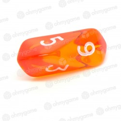 1d6 à facettes Gemme orange