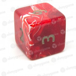 d6 jumbo marbré rouge
