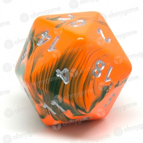 d20 jumbo toxic orange - vert (chemical)
