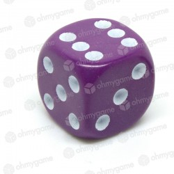 d6 à points, opaque violet