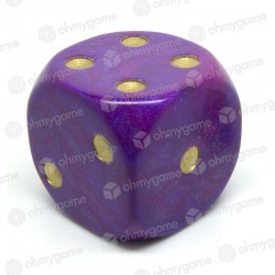 d6 à points interferenz violet (36 mm)