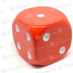 d6 à points, opaque orange (36 mm)