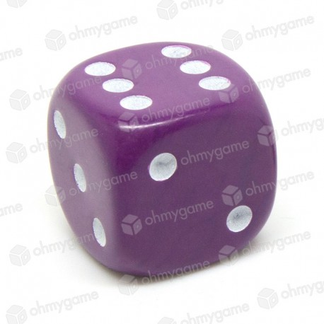 d6 à points, opaque violet (22 mm)