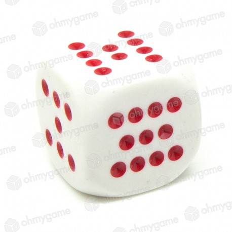 d6 avec points rouge de 7 à 12 (20 mm)