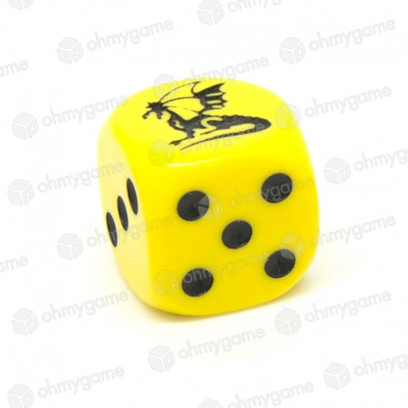 1d6 Dragon, jaune (16 mm)