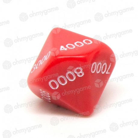 d10-milliers opaque Rouge