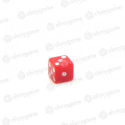 Micro d6 opaque rouge (5 mm)