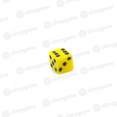 Micro d6 opaque jaune (5 mm)
