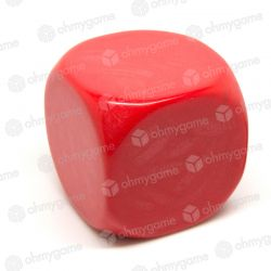 d6 vierge, opaque rouge (36 mm)