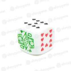 1d6 Dé de Poker (16 mm), blanc