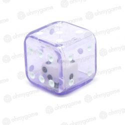 1d6 Double transparent violet/blanc (19 mm)