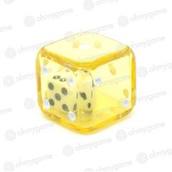 1d6 Double transparent jaune/blanc (19 mm)