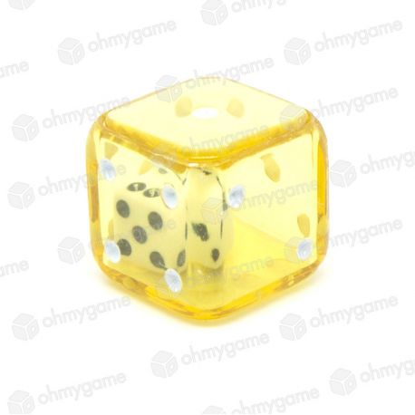 d6 Double transparent jaune/blanc (19 mm)