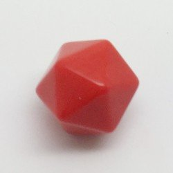 d20 opaque vierge rouge